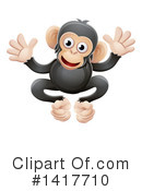 Chimpanzee Clipart #1417710 by AtStockIllustration