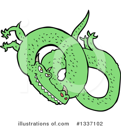 Chinese Dragon Clipart #1337102 by lineartestpilot