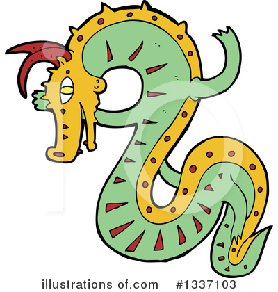Chinese Dragon Clipart #1337103 by lineartestpilot
