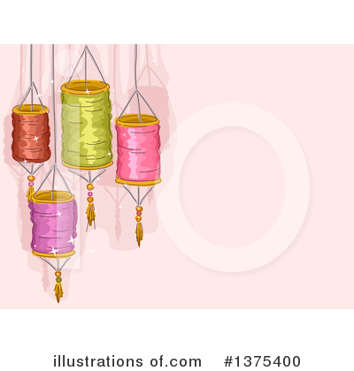 Chinese Lantern Clipart #1375400 by BNP Design Studio