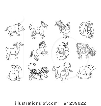 Chinese Zodiac Clipart #1239622 by AtStockIllustration