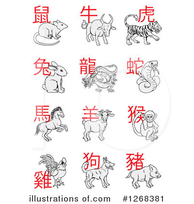 Chinese Zodiac Clipart #1268381 by AtStockIllustration