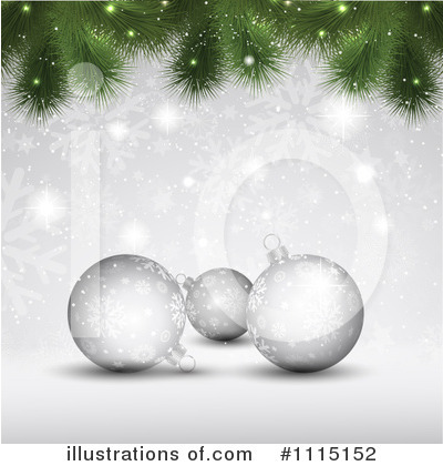 Royalty-Free (RF) Chjristmas Bauble Clipart Illustration by KJ Pargeter - Stock Sample #1115152