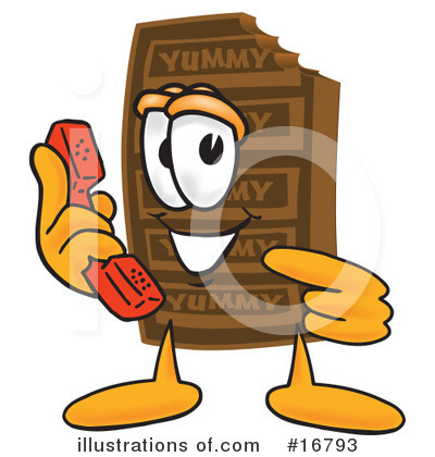 Chocolate Character Clipart #16793 by Toons4Biz