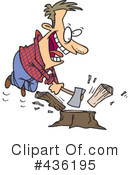 Royalty-Free (RF) chopping wood Clipart Illustration #436195