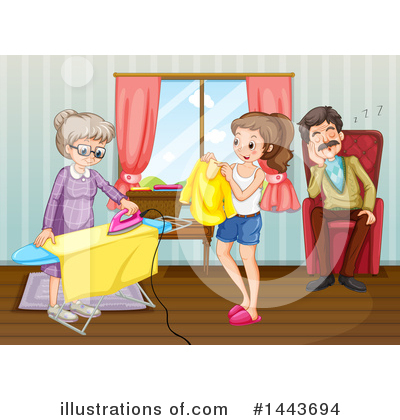 Ironing Clipart #1443694 by Graphics RF
