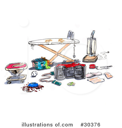 Ironing Clipart #30376 by Spanky Art