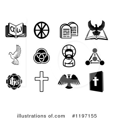 Christian Icons Clipart #1197155 by AtStockIllustration