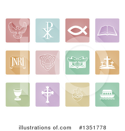 Christian Icons Clipart #1351778 by AtStockIllustration