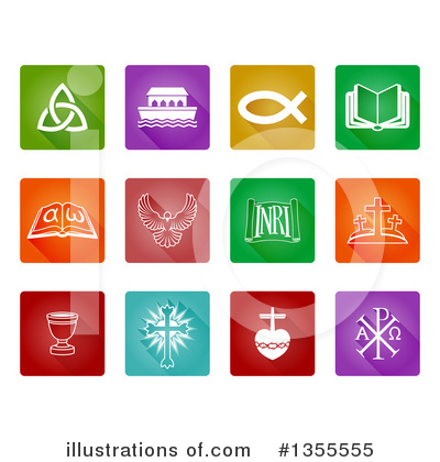 Christian Icons Clipart #1355555 by AtStockIllustration