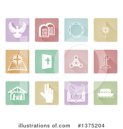 Christian Icons Clipart #1375204 by AtStockIllustration