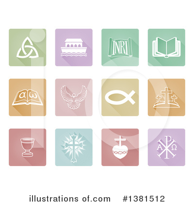 Christian Icons Clipart #1381512 by AtStockIllustration