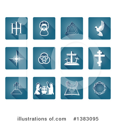 Christian Icons Clipart #1383095 by AtStockIllustration