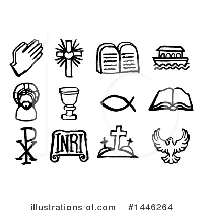 Christian Icons Clipart #1446264 by AtStockIllustration