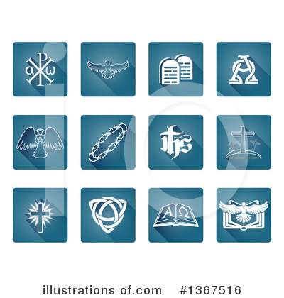 Christian Icons Clipart #1367516 by AtStockIllustration