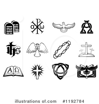 Christian Icons Clipart #1192784 by AtStockIllustration