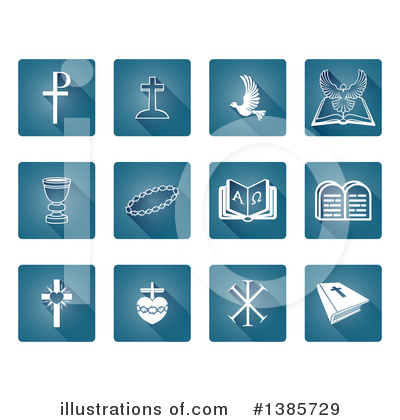 Christian Icons Clipart #1385729 by AtStockIllustration