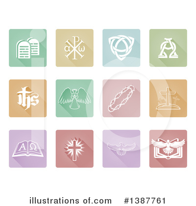 Christian Icons Clipart #1387761 by AtStockIllustration