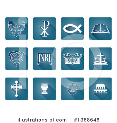Christian Icons Clipart #1388646 by AtStockIllustration