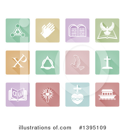 Royalty-Free (RF) Christian Icons Clipart Illustration by AtStockIllustration - Stock Sample #1395109