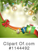 Royalty-Free (RF) Christmas Background Clipart Illustration #1144492