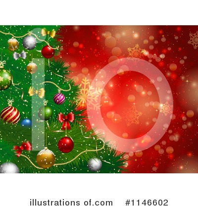 Royalty-Free (RF) Christmas Background Clipart Illustration by KJ Pargeter - Stock Sample #1146602