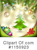 Royalty-Free (RF) Christmas Background Clipart Illustration #1150923