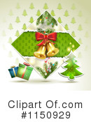 Royalty-Free (RF) Christmas Background Clipart Illustration #1150929