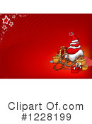Royalty-Free (RF) Christmas Background Clipart Illustration #1228199