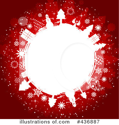 Royalty-Free (RF) Christmas Background Clipart Illustration by KJ Pargeter - Stock Sample #436887