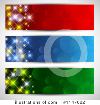 Royalty-Free (RF) Christmas Banners Clipart Illustration by KJ Pargeter - Stock Sample #1147022