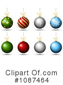 Christmas Baubles Clipart #1087464 by KJ Pargeter