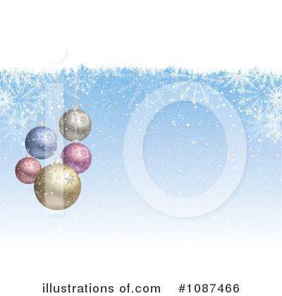 Royalty-Free (RF) Christmas Baubles Clipart Illustration by KJ Pargeter - Stock Sample #1087466