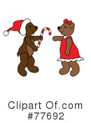 Royalty-Free (RF) christmas bear Clipart Illustration #77692