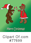 Royalty-Free (RF) christmas bear Clipart Illustration #77699