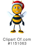 Royalty-Free (RF) Christmas Bee Clipart Illustration #1151063