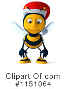Royalty-Free (RF) Christmas Bee Clipart Illustration #1151064