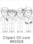 Christmas Caroling Clipart #83328 by Pams Clipart