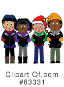 Royalty-Free (RF) Christmas Caroling Clipart Illustration #83331
