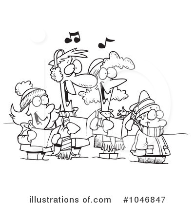 Christmas Carols on Christmas Carols Clipart  1046847 By Ron Leishman   Royalty Free  Rf