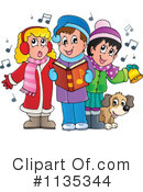 Royalty-Free (RF) Christmas Carols Clipart Illustration #1135344