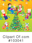 Royalty-Free (RF) Christmas Clipart Illustration #103041