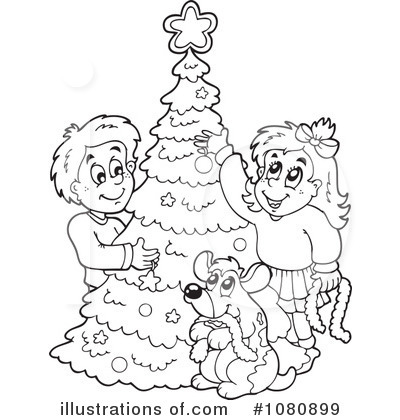 Royalty-Free (RF) Christmas Clipart Illustration by visekart - Stock Sample #1080899