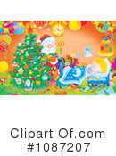 Royalty-Free (RF) christmas Clipart Illustration #1087207