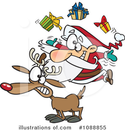 Santa Clipart #1088855 by toonaday
