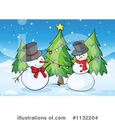 Snowman Clipart #1132204 by Graphics RF