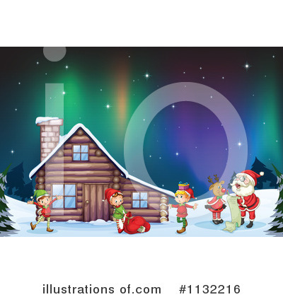 Northern Lights Clipart #1132216 by Graphics RF