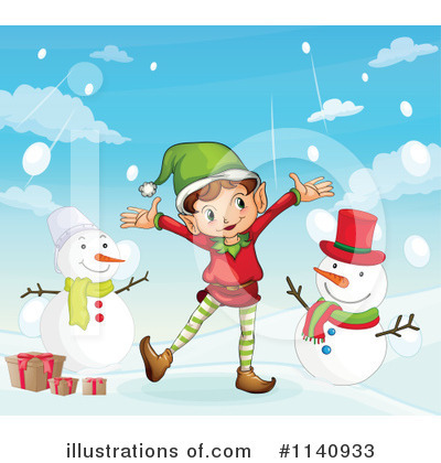 Snowman Clipart #1140933 by Graphics RF