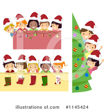 Christmas Stockings Clipart #1145424 by BNP Design Studio