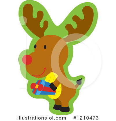 Reindeer Clipart #1210473 by Cherie Reve